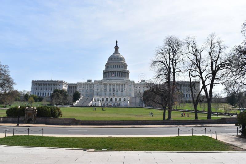 Primer del capitolio blanco grande en Washington D C en los E.E.U.U. imagenes de archivo