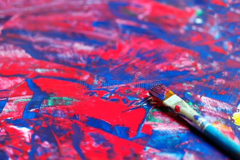Download Primer Del Cepillo Y De La Paleta Stock de ilustración - Ilustración de acrylic, azul: 41909297