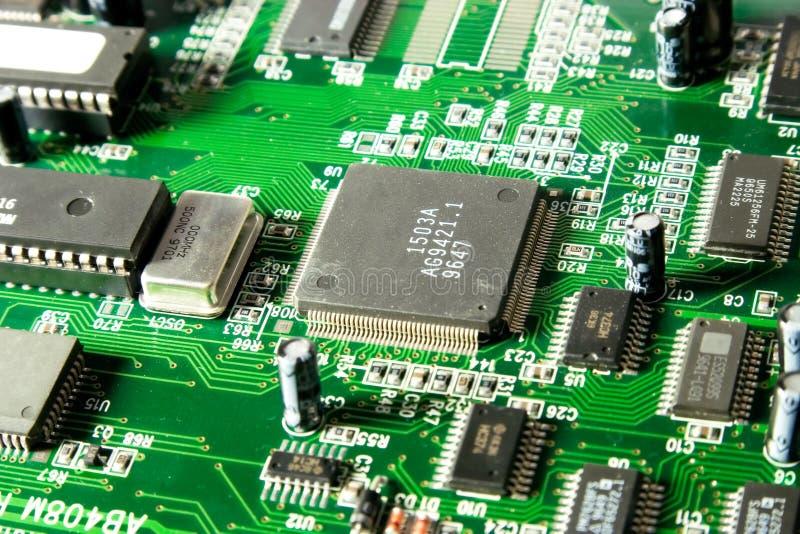 Primer del chip de ordenador fotografía de archivo libre de regalías