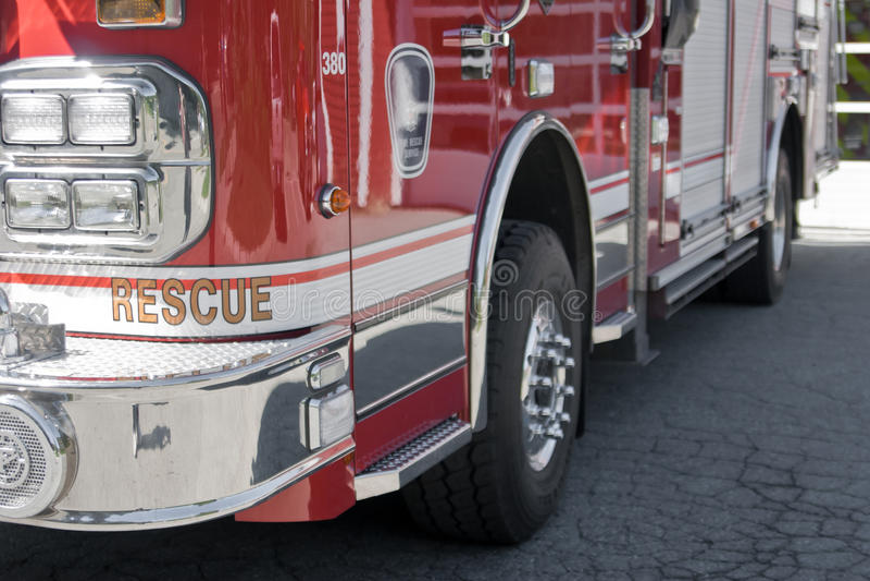 Primer del coche de bomberos imagen de archivo