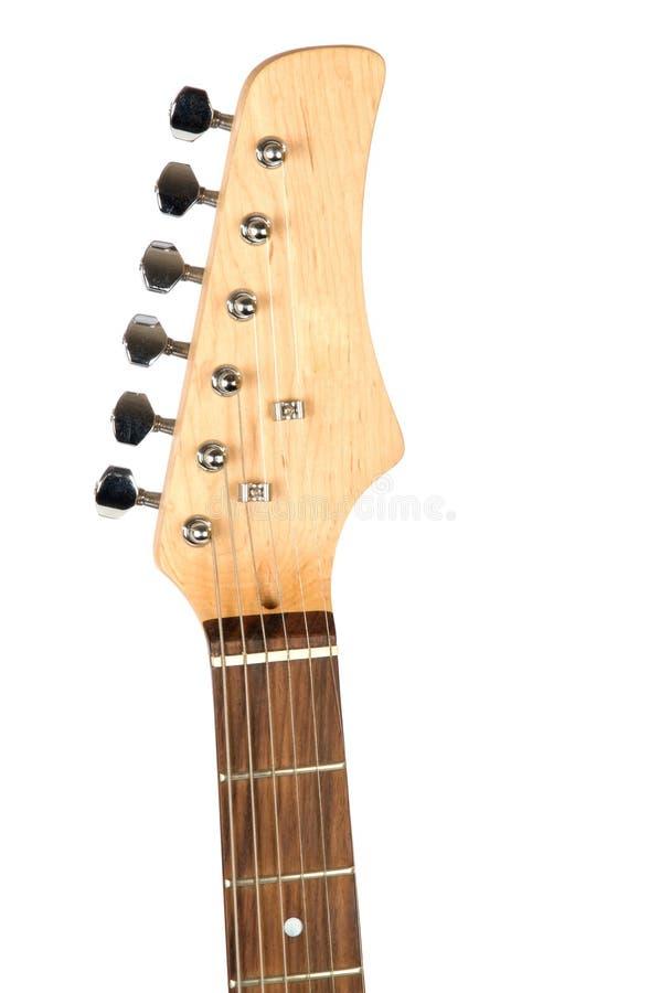Primer del cuello de la guitarra fotos de archivo