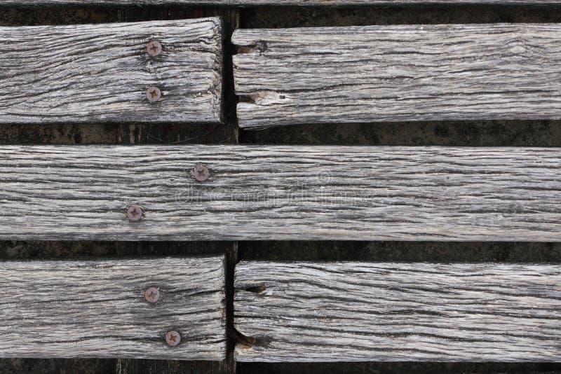Primer del decking resistido áspero de la madera dura imagen de archivo