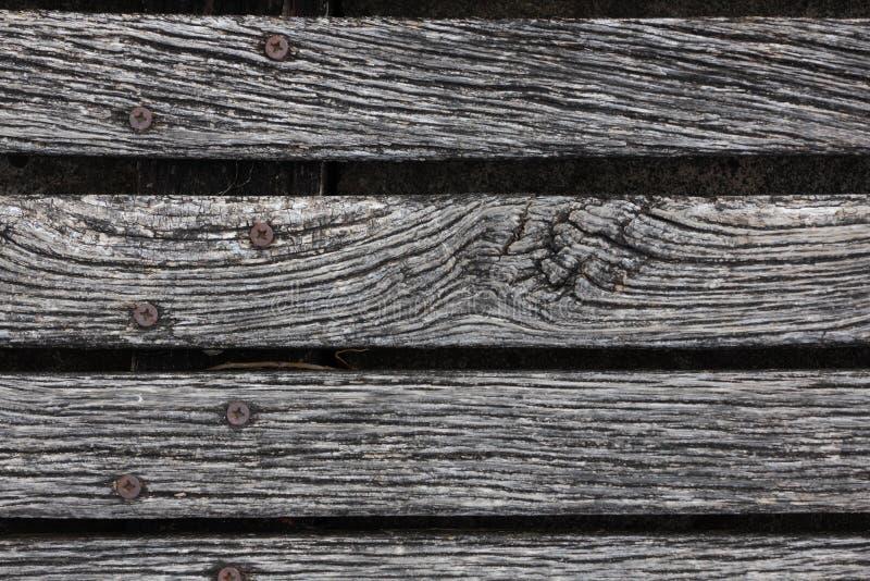 Primer del decking resistido áspero de la madera dura fotografía de archivo