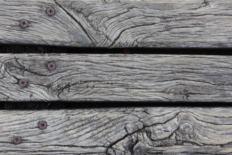 Primer del decking resistido áspero de la madera dura fotos de archivo