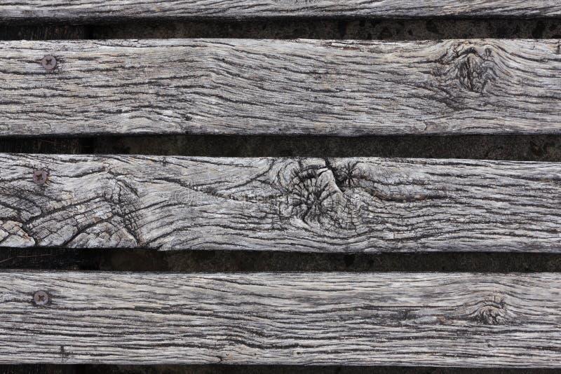 Primer del decking resistido áspero de la madera dura foto de archivo libre de regalías