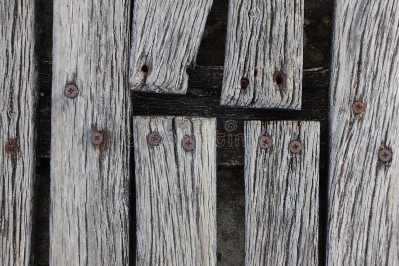 Primer del decking resistido áspero de la madera dura fotografía de archivo libre de regalías