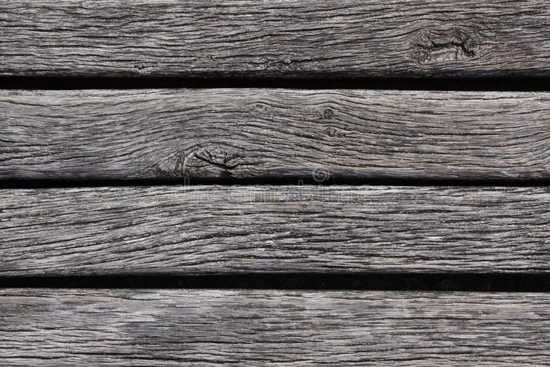 Primer del decking resistido de la madera dura fotos de archivo libres de regalías