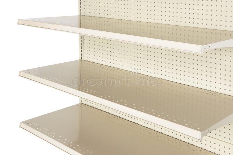 Primer del estante de una tienda al por menor vacío fotografía de archivo libre de regalías