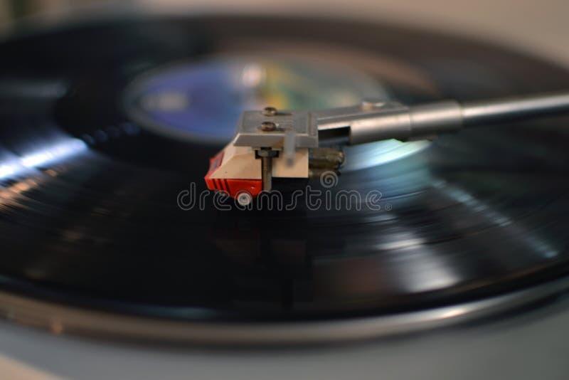 Primer del fonógrafo de la aguja del registrador fotografía de archivo