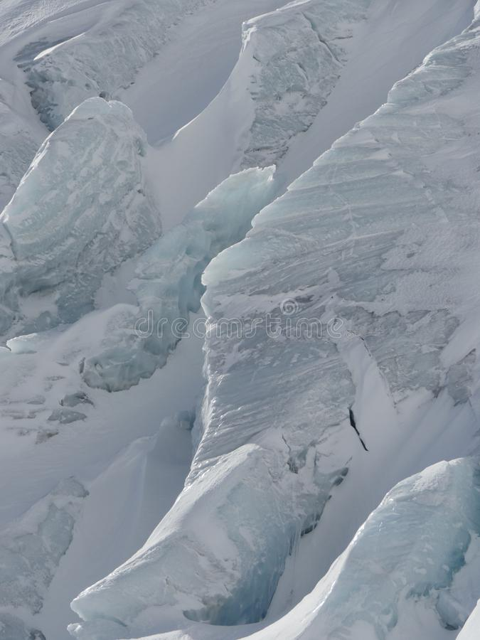 Primer del glaciar imagen de archivo libre de regalías