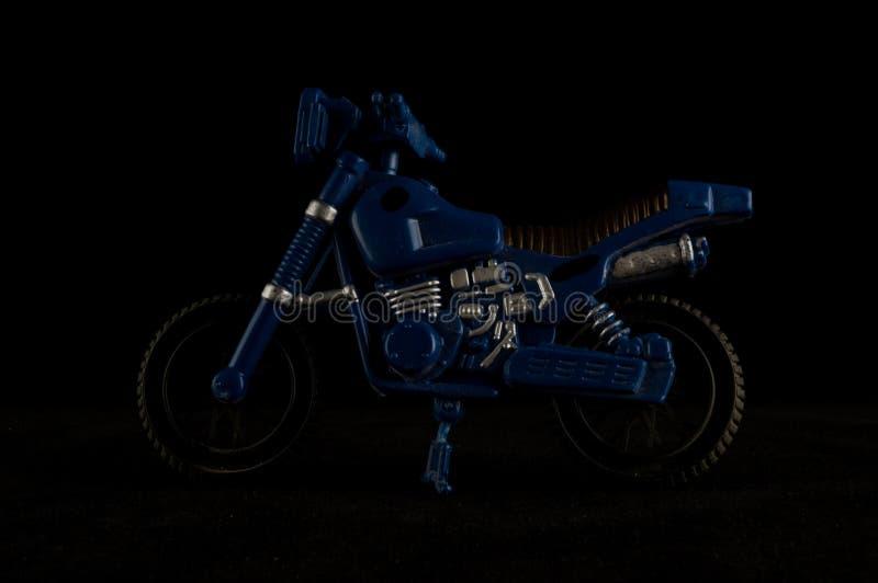 Primer del juguete cruzado de la motocicleta de la moto foto de archivo