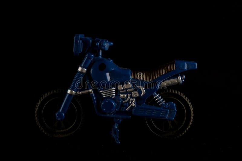 Primer del juguete cruzado de la motocicleta de la moto foto de archivo libre de regalías