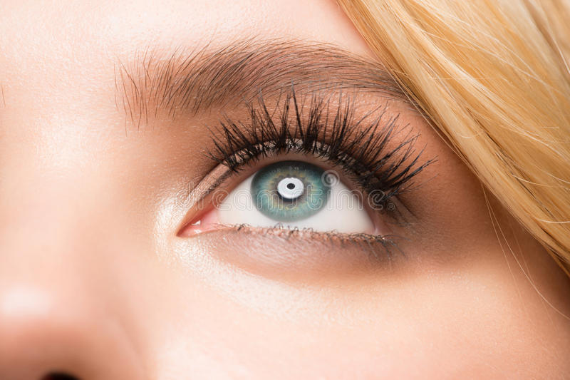 Primer del maquillaje del ojo fotos de archivo libres de regalías