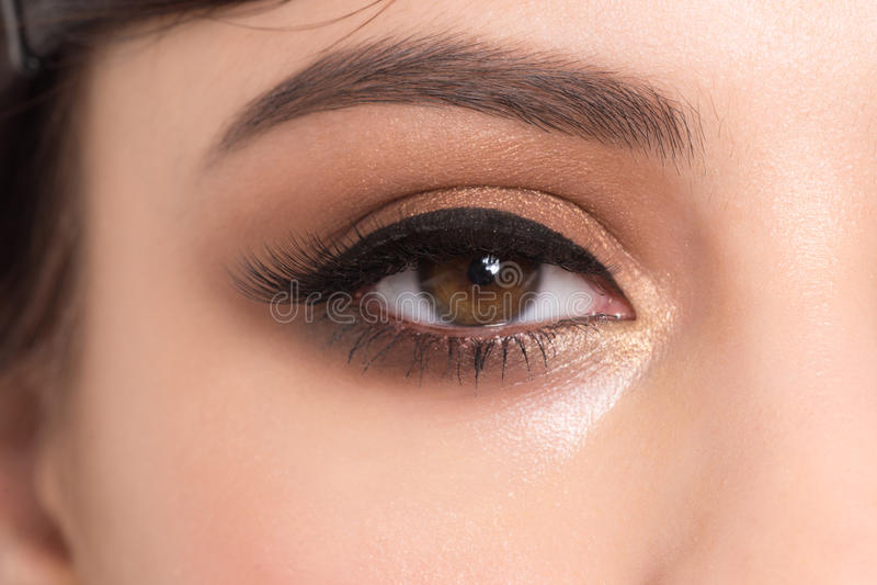 Primer del maquillaje del ojo imágenes de archivo libres de regalías