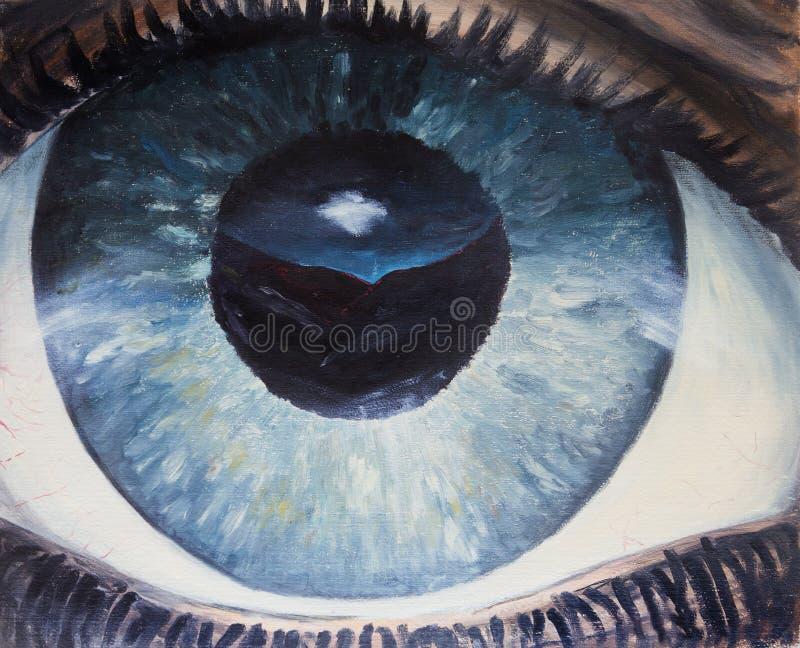 Primer del ojo humano libre illustration