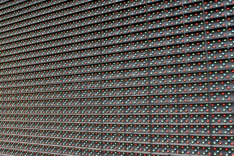 Primer del panel del LED imágenes de archivo libres de regalías