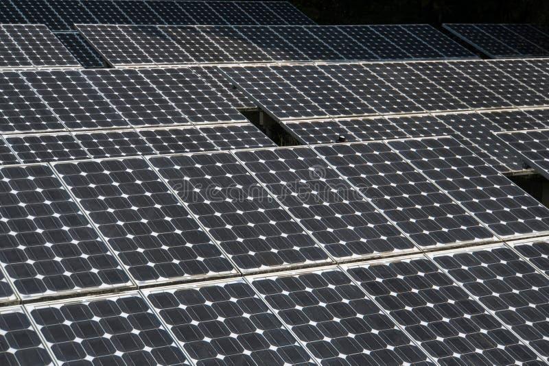 Primer del panel solar foto de archivo