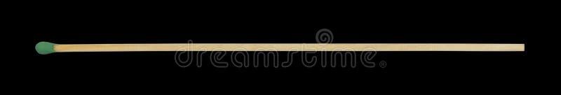 Primer del partido de la chimenea aislado en negro fotos de archivo
