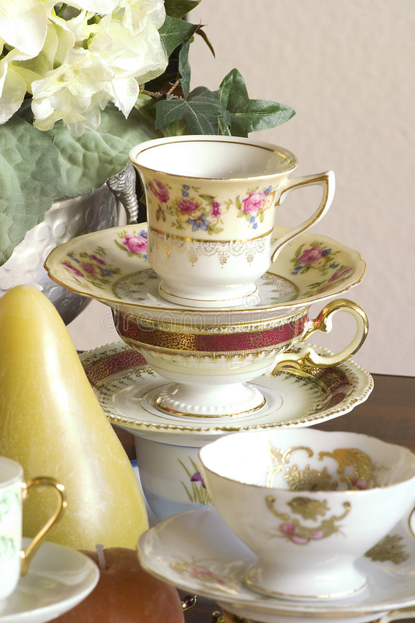 Primer del partido de té imagen de archivo