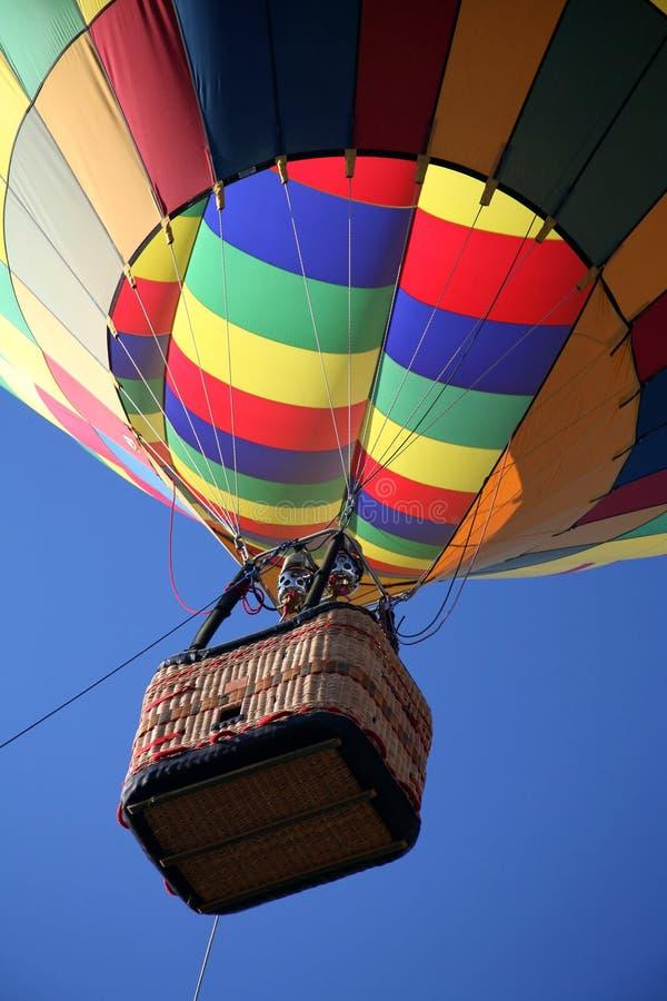Primer del paseo del globo del aire caliente foto de archivo libre de regalías