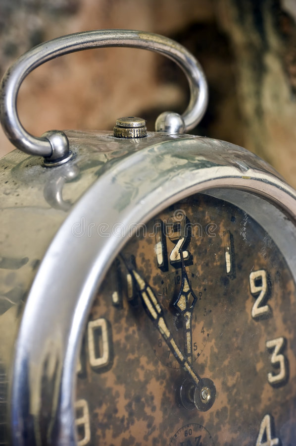 Primer del reloj de la vendimia imagen de archivo libre de regalías