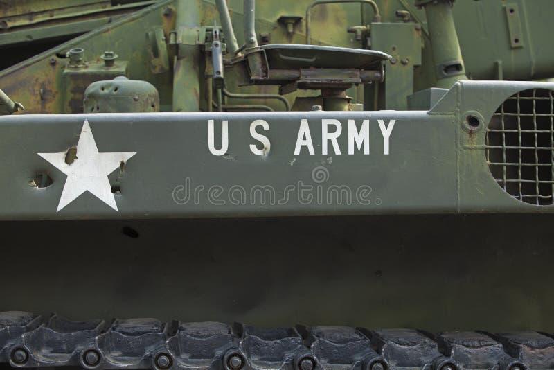 Primer del tanque con el Ejército de los EE. UU. del texto en él fotos de archivo libres de regalías
