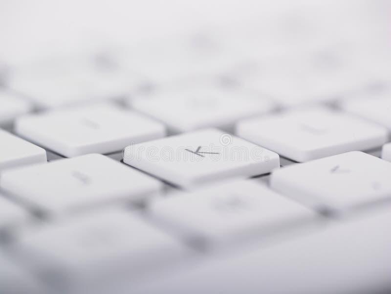 Primer del teclado de ordenador y clave de K fotografía de archivo