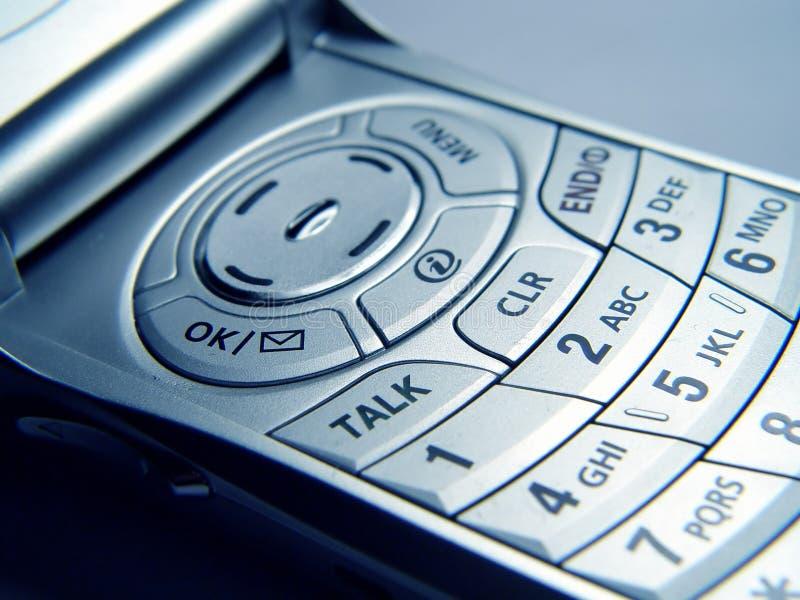 Primer del teléfono móvil foto de archivo