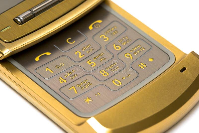 Primer del teléfono móvil imagen de archivo