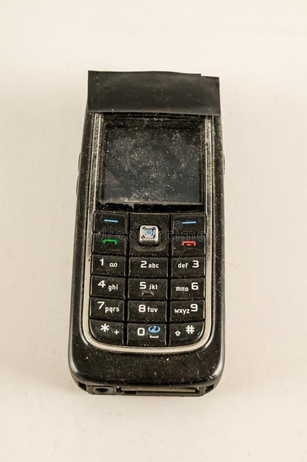 Primer del teléfono móvil del vintage fotografía de archivo