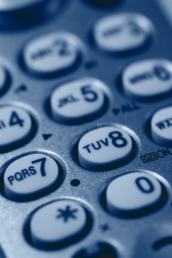 Primer del telclado numérico del teléfono foto de archivo libre de regalías