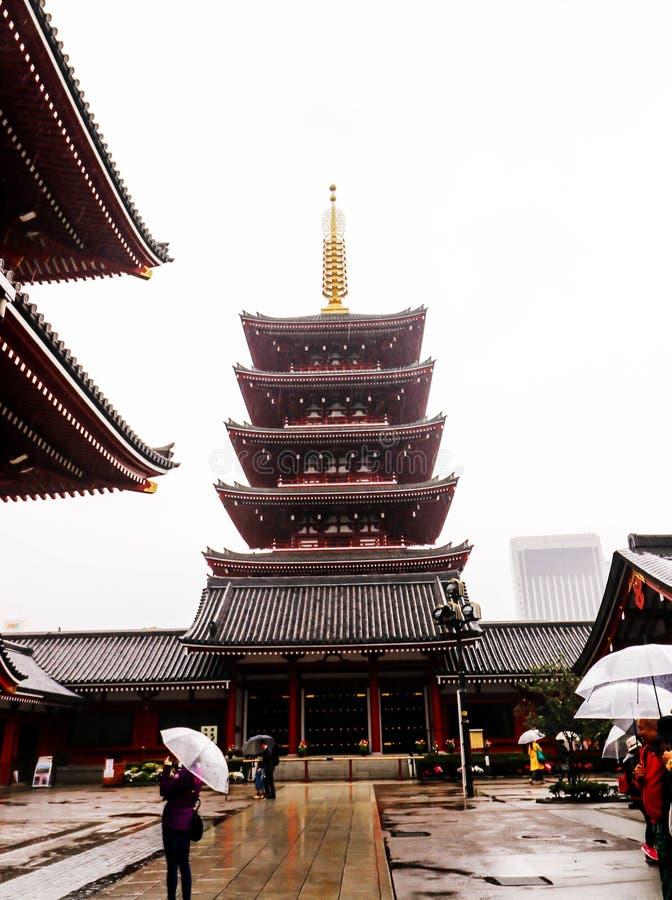 Primer del templo de Asakusa Sensoji Kannon en Tokio, Japón foto de archivo libre de regalías