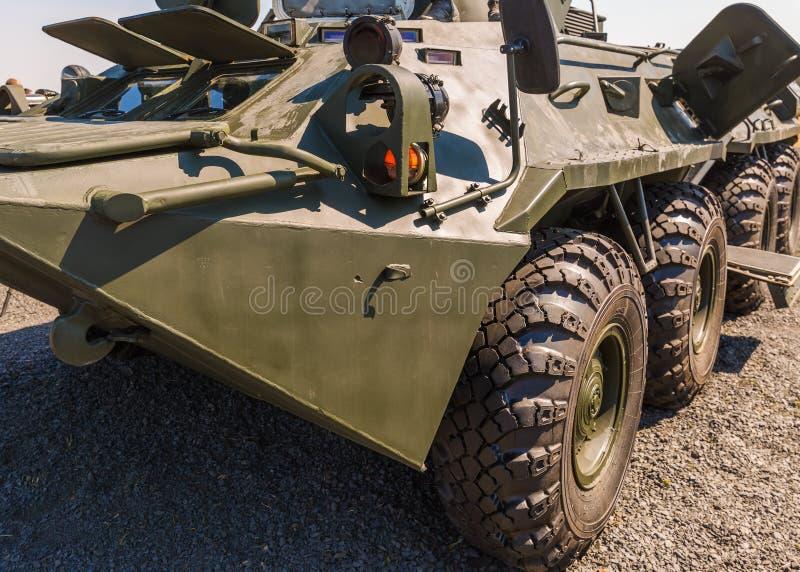 Primer del vehículo de lucha acorazado BTR-82AM imagen de archivo