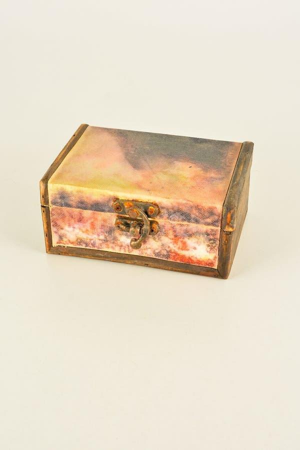 Primer del vintage de la caja de madera imagenes de archivo