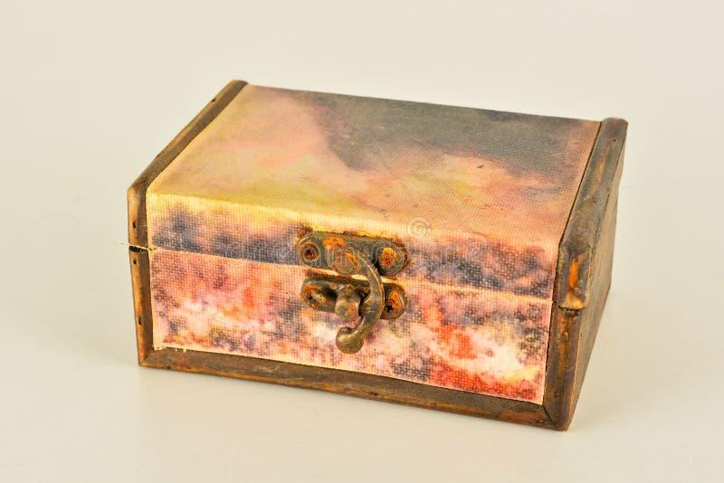 Primer del vintage de la caja de madera foto de archivo libre de regalías