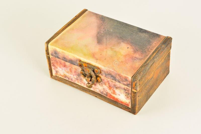 Primer del vintage de la caja de madera imagen de archivo