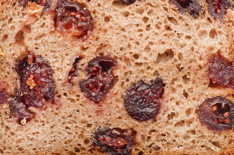 Primer delicioso fresco hecho en casa del pan del arándano foto de archivo libre de regalías