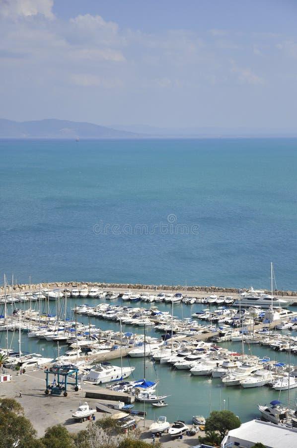 Primer dicho del puerto de Sidi Bou imagenes de archivo