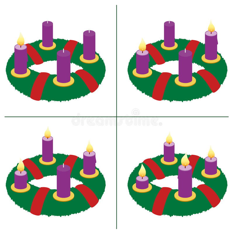 Primer domingo de Advent Second Third Fourth libre illustration