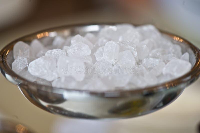 Primer dulce del azúcar del terrón cristalino blanco fotografía de archivo libre de regalías