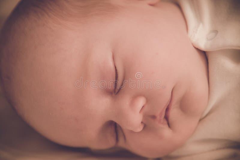 Primer el dormir del bebé fotografía de archivo libre de regalías