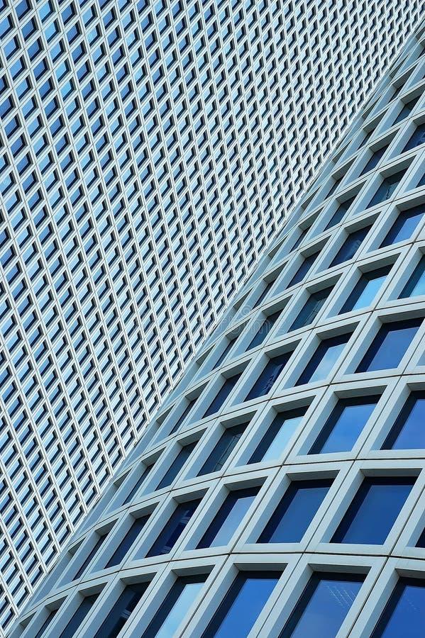 Primer en dos rascacielos fotos de archivo