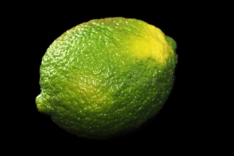 Primer filmado amarillo del verde lima fotografía de archivo