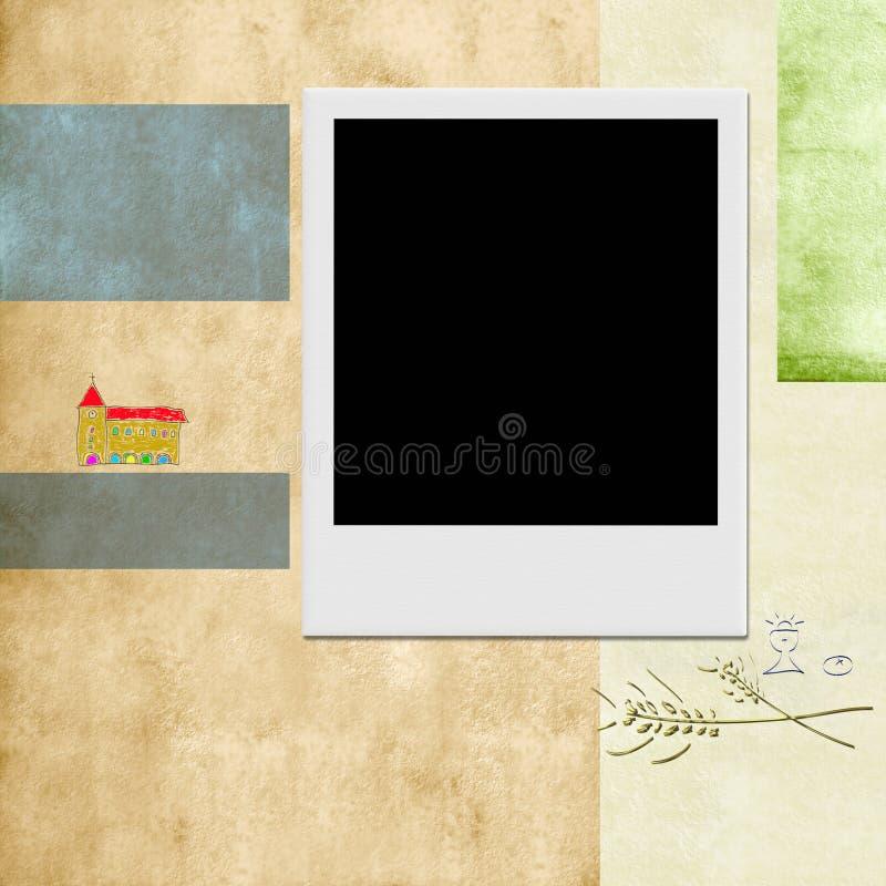 Primer fondo del instante de la foto de la comunión santa ilustración del vector