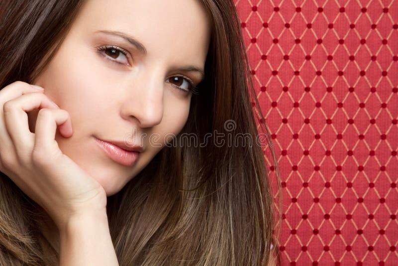Primer hermoso de la mujer imagen de archivo