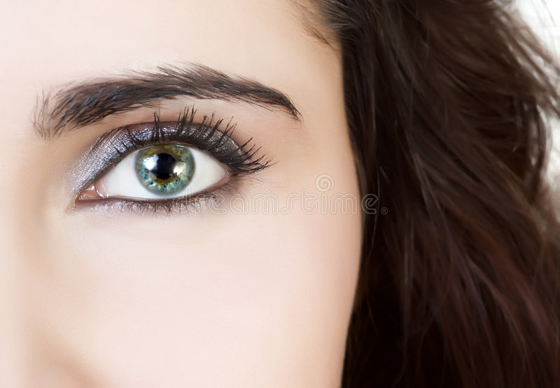 Primer hermoso del ojo imagenes de archivo