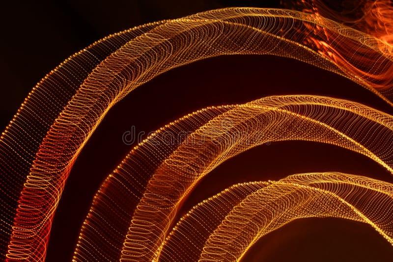Primer lento abstracto de las luces del obturador fotografía de archivo libre de regalías
