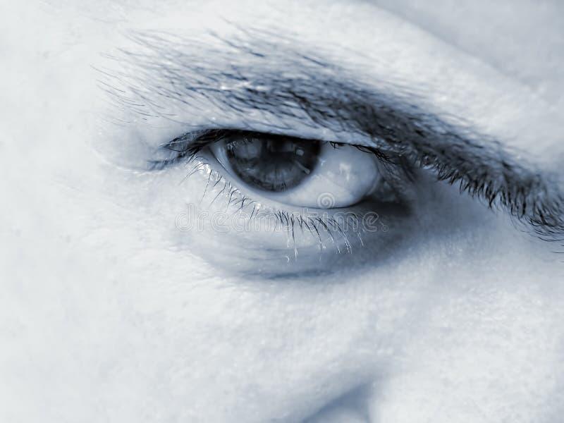 Primer masculino del ojo fotografía de archivo