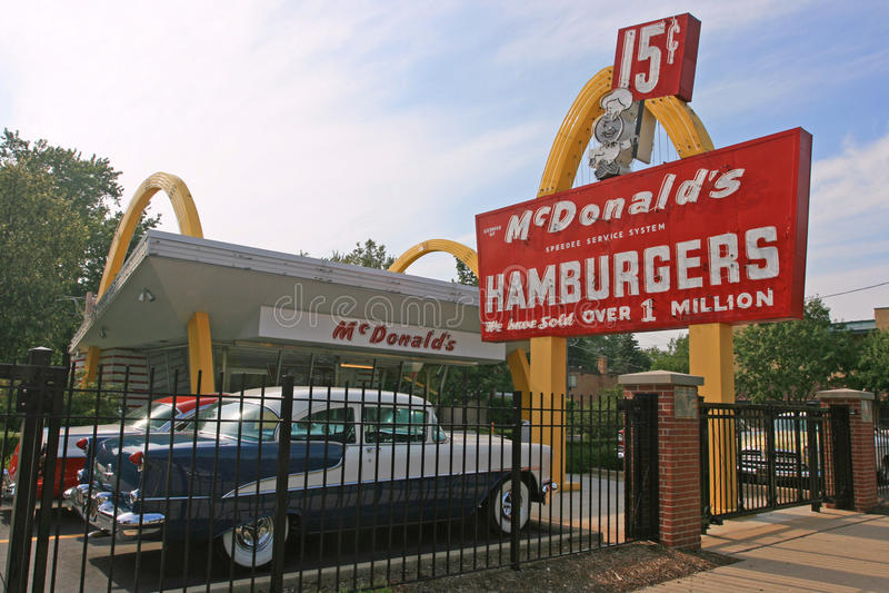 Primer McDonald's almacena el museo en Illinois, los E.E.U.U. fotografía de archivo libre de regalías