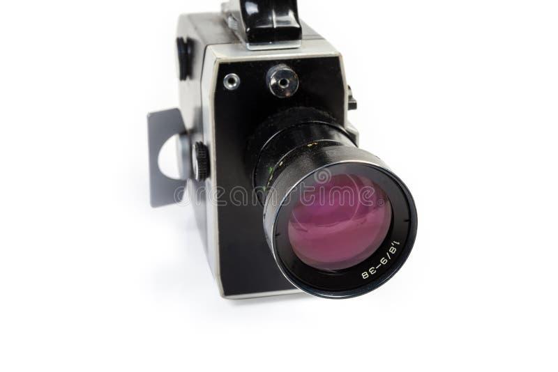 Primer mecánico 8m m aficionado estupendo de la cámara de película foto de archivo